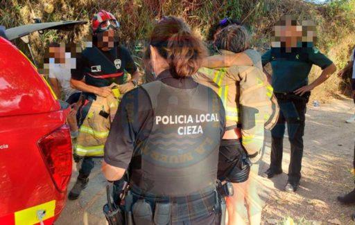 Vrouw uit rivier in Murcia gered nadat ze probeerde haar hond te redden