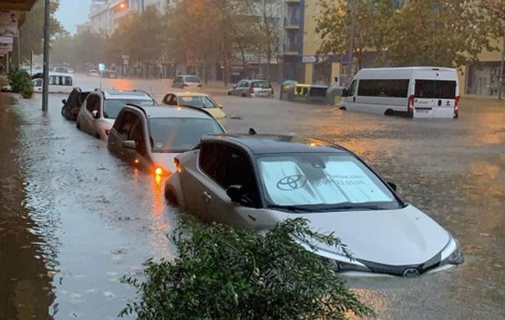 Veel schade en overstromingen door noodweer in Extremadura, Andalusië en Balearen