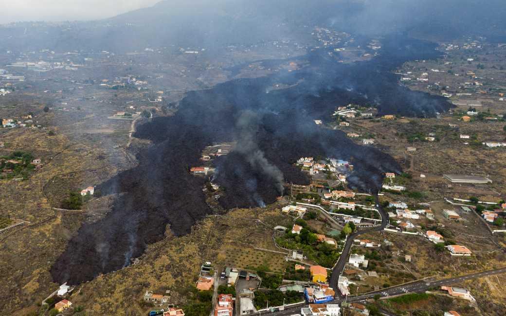 De lava heeft huizen en land ter waarde van 178,4 miljoen euro opgeslokt op La Palma