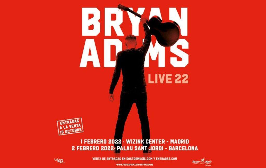 Bryan Adams komt in februari 2022 voor concerten naar Madrid en Barcelona