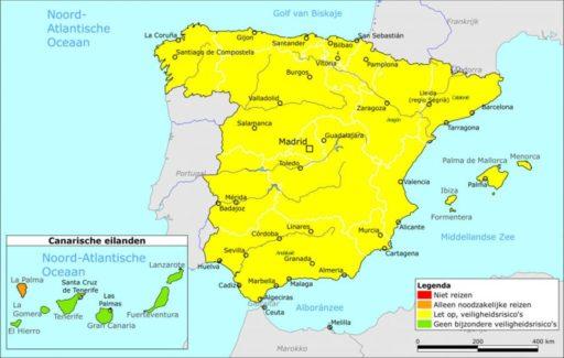 Nederland past reisadvies Spanje aan: Canarische Eilanden behalve La Palma op groen