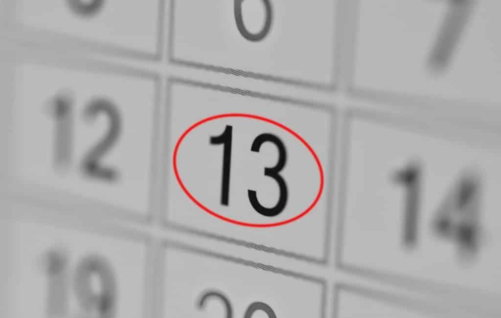 Vrijdag de 13e is geen ongeluksdag in Spanje