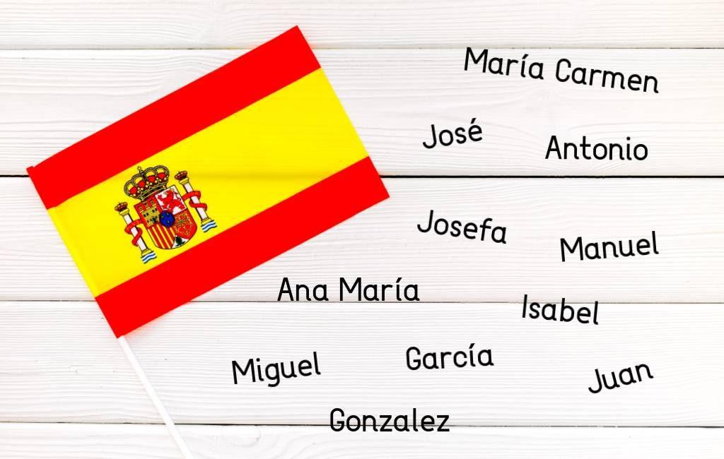 De meest voorkomende namen in Spanje