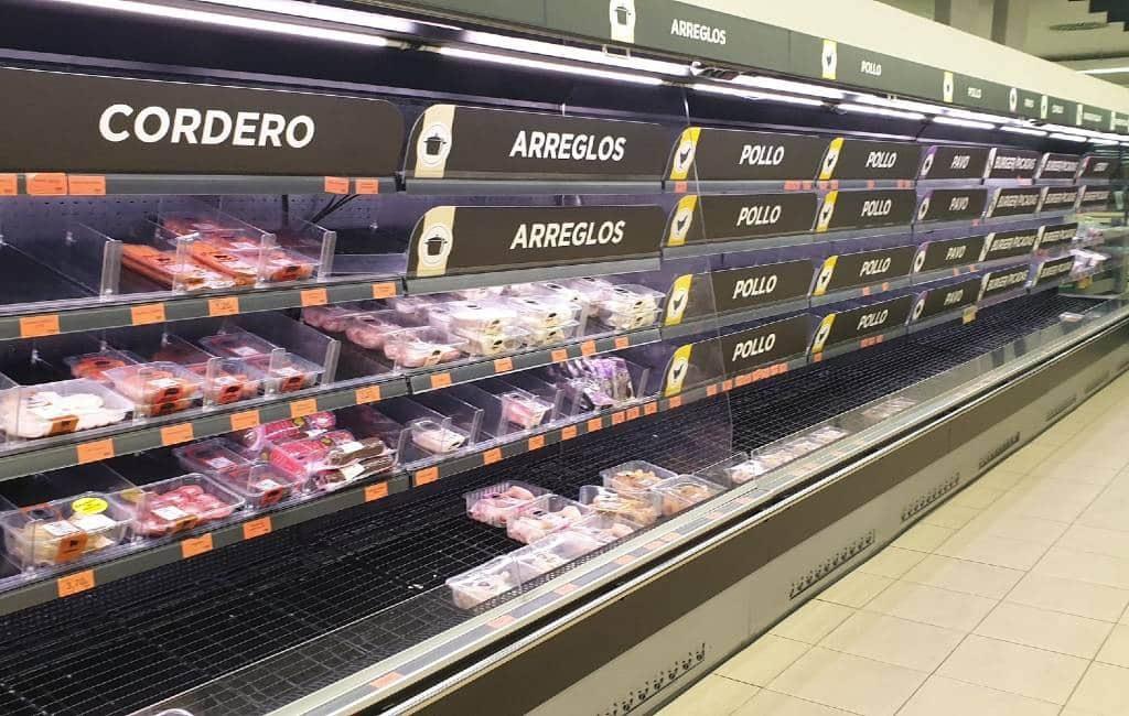 Sociaal alarm coronavirus Madrid zorgt voor 'hamsteren' in supermarkten