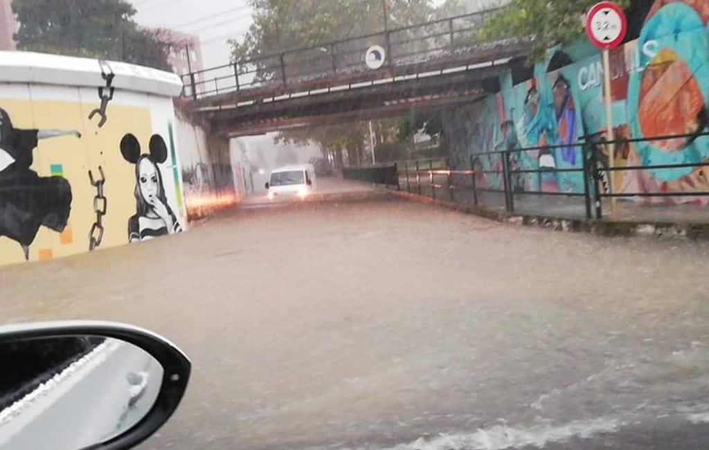 Veel overlast door enorme regenval Costa Dorada zoals in Cambrils