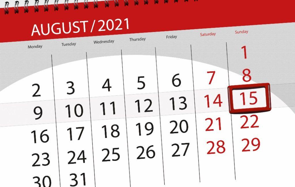 Nationale feestdag Spanje en vrije-werkdag 15 augustus valt op een zondag en nu?
