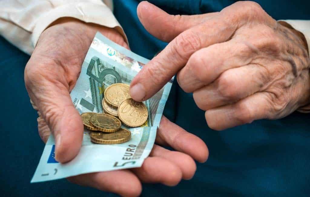 Gemiddelde ouderdomspensioen Spanje in februari is 1.156 euro