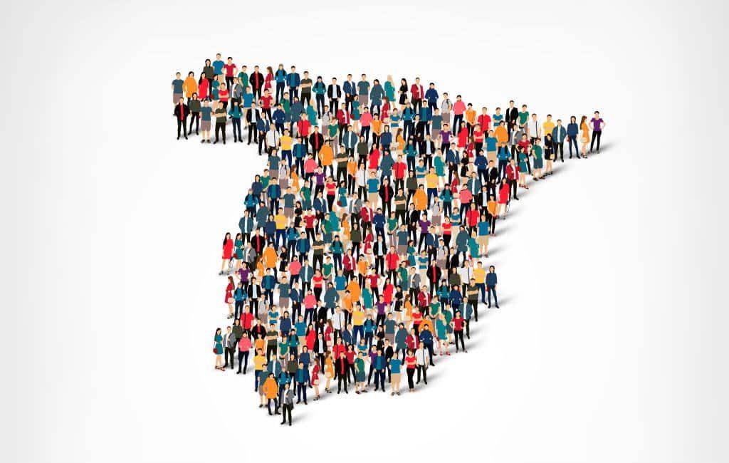 Eerste half jaar 2018 afgesloten met meer inwoners in Spanje