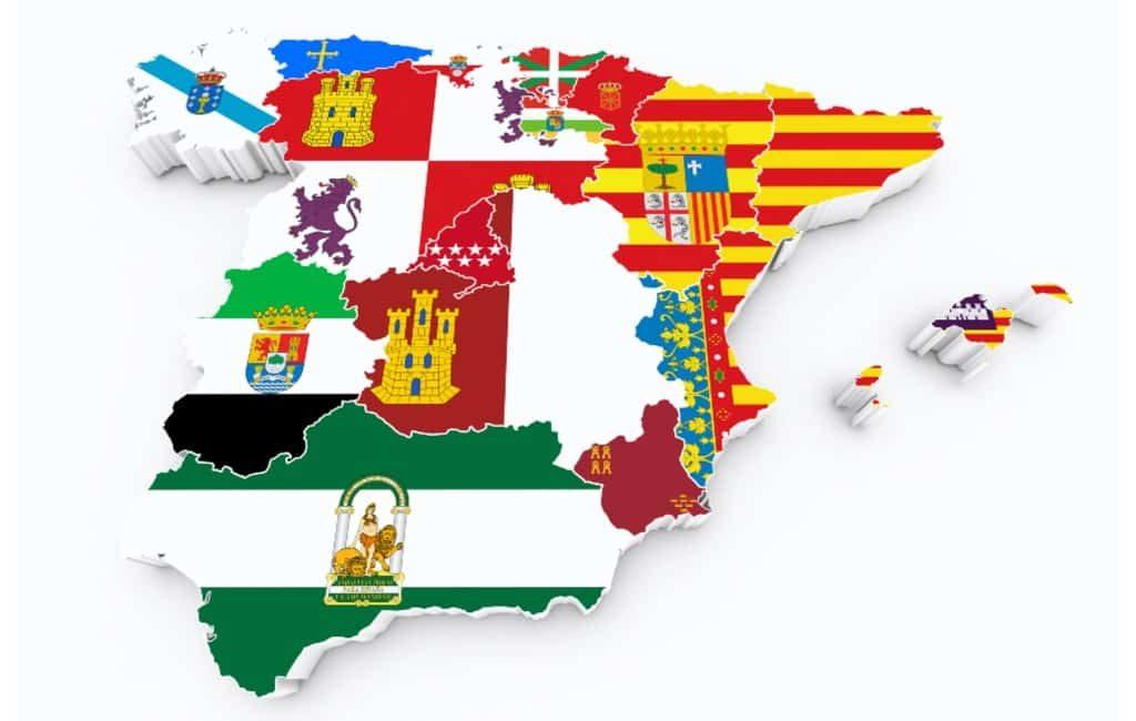 De oppervlakte van de provincies en het aantal inwoners in Spanje