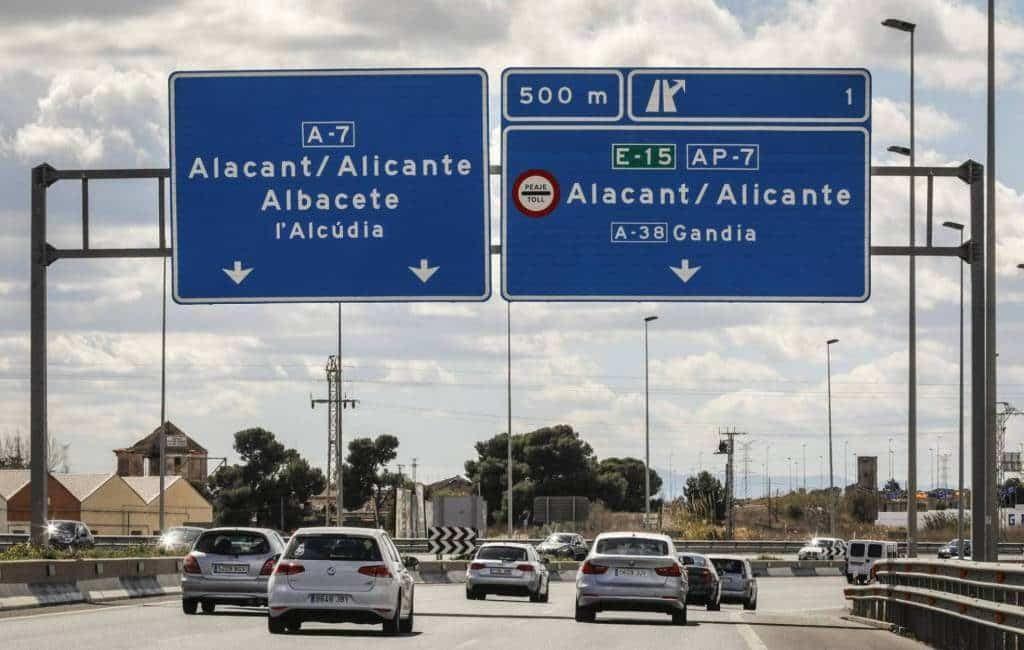 Verkeer op tolvrije AP-7 in Alicante flink toegenomen