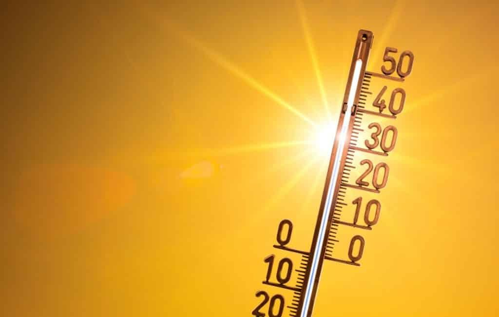 Maximale temperatuur Spaanse vasteland (begin februari) 27 graden