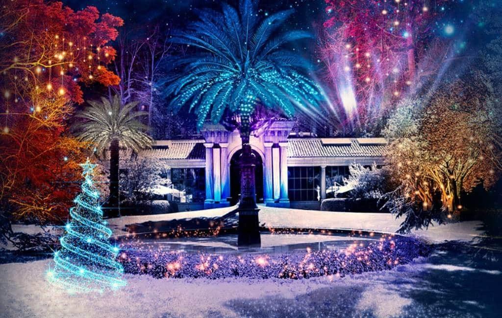 Botanische tuin Madrid omgetoverd naar Christmas Garden