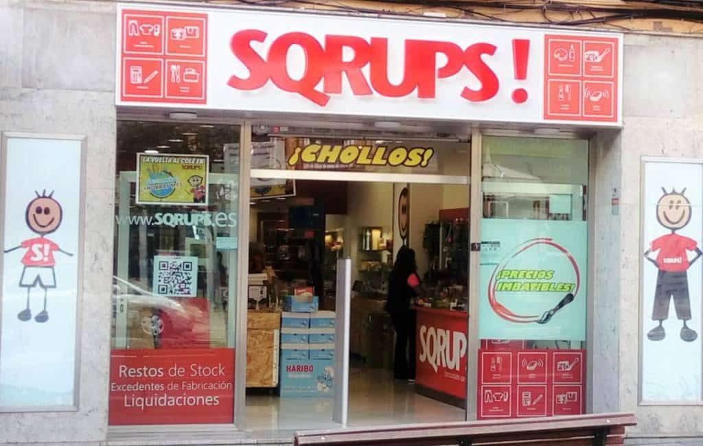 De 100 pesetas winkels herleven in de Spaanse keten Sqrups