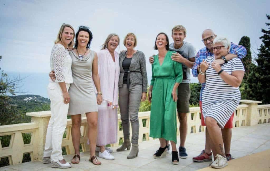 Vlaams tv-programma 'Met Vier in Bed' op bezoek in Spanje