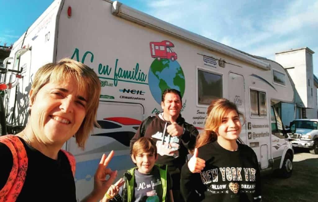 Familie uit Sevilla heeft camper wereldreis gemaakt