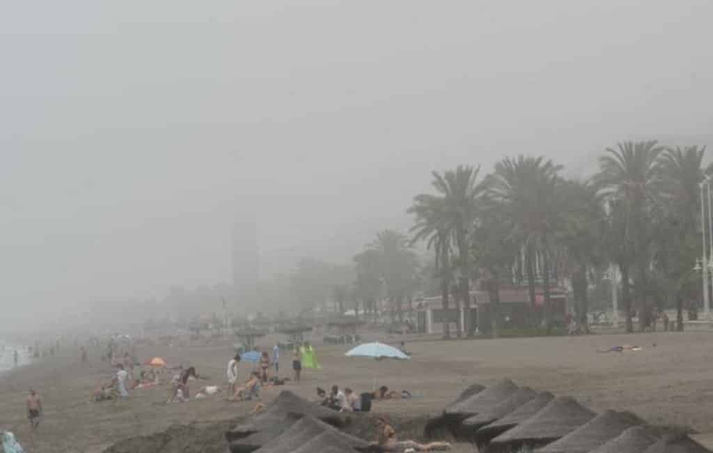 Veel hinder vanwege 'taro' mist in Málaga