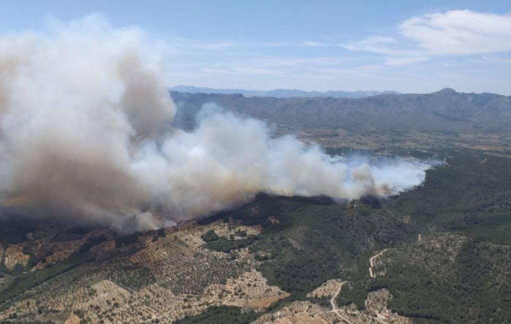 Grote bos- en natuurbrand in El Perelló aan de Costa Dorada