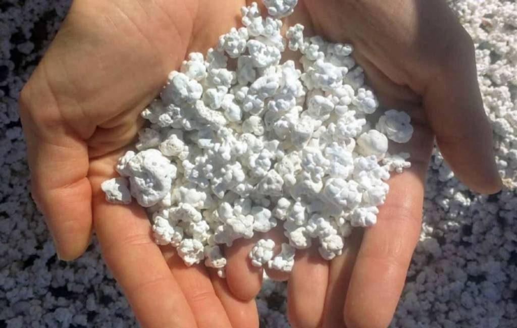 Het popcorn strand op Fuerteventura