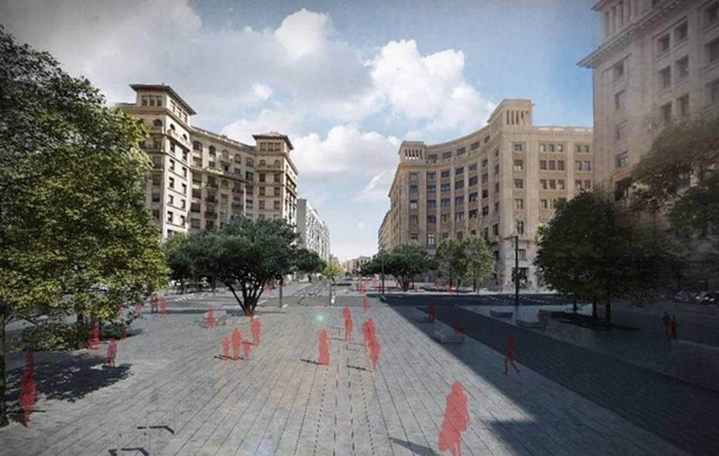 De Via Laietana in Barcelona wordt verbouwd