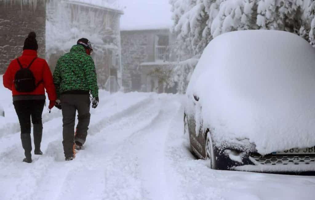 Spaanse herfst met sneeuw, sneeuw en nog meer sneeuw