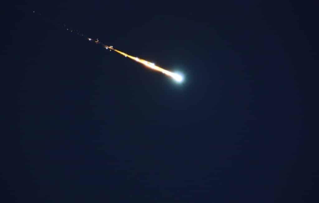 Opnieuw vuurbol te zien in Zuid Spanje