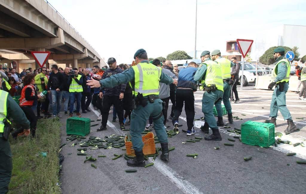 Boerenprotesten Extremadura en Andalusië voor 'eerlijke prijzen'