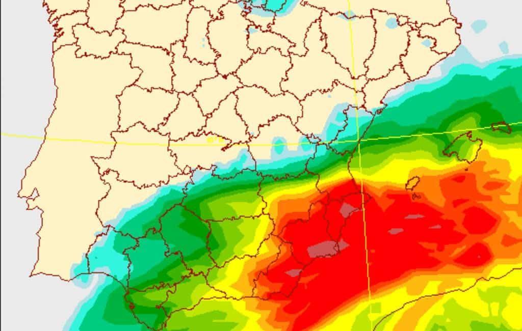 Krijgt de provincie Alicante te maken met een orkaan achtige storm?