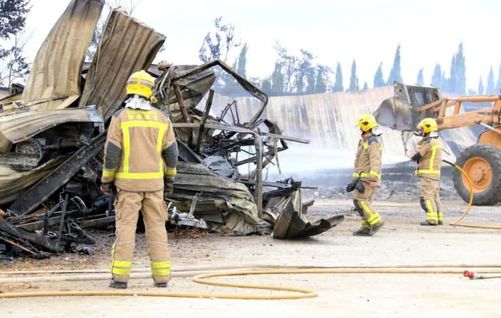 40 caravans en 2 campers verbrand bij caravanstalling Costa Brava