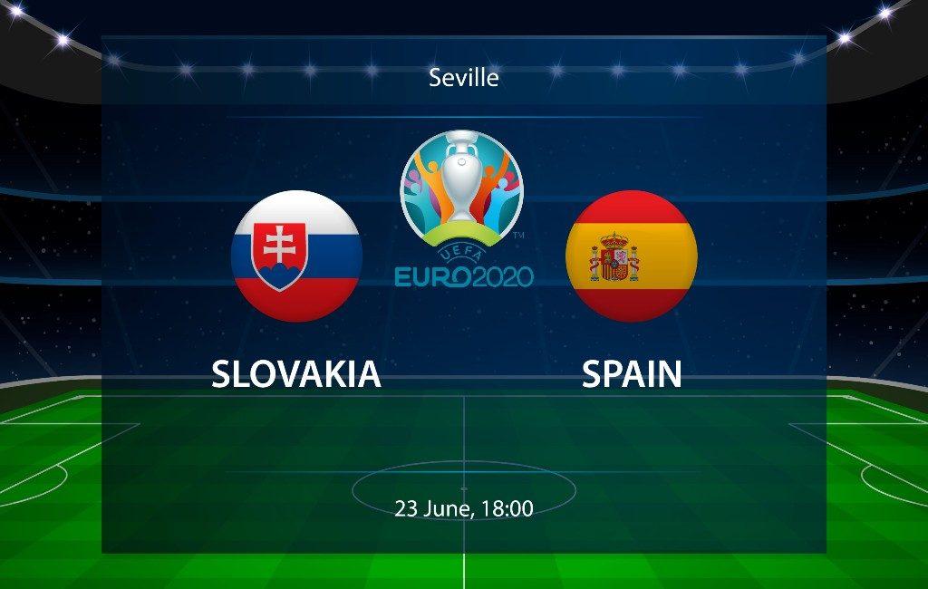 EK-2021 23 juni: Spanje speelt derde groepsfase wedstrijd tegen Slowakije