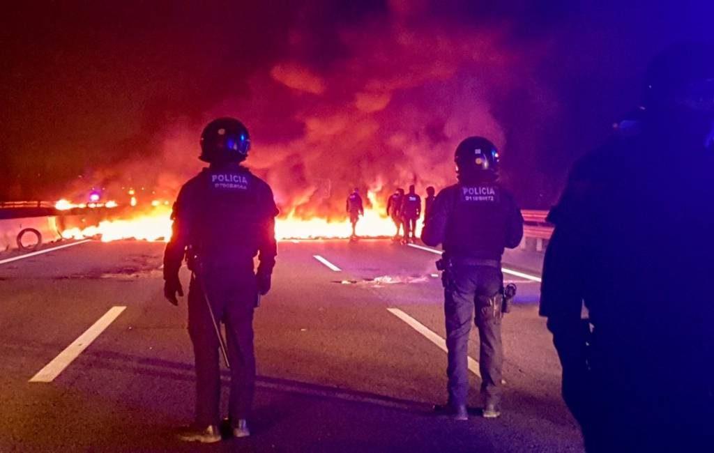 Incidenten tijdens nieuwe staking in Catalonië