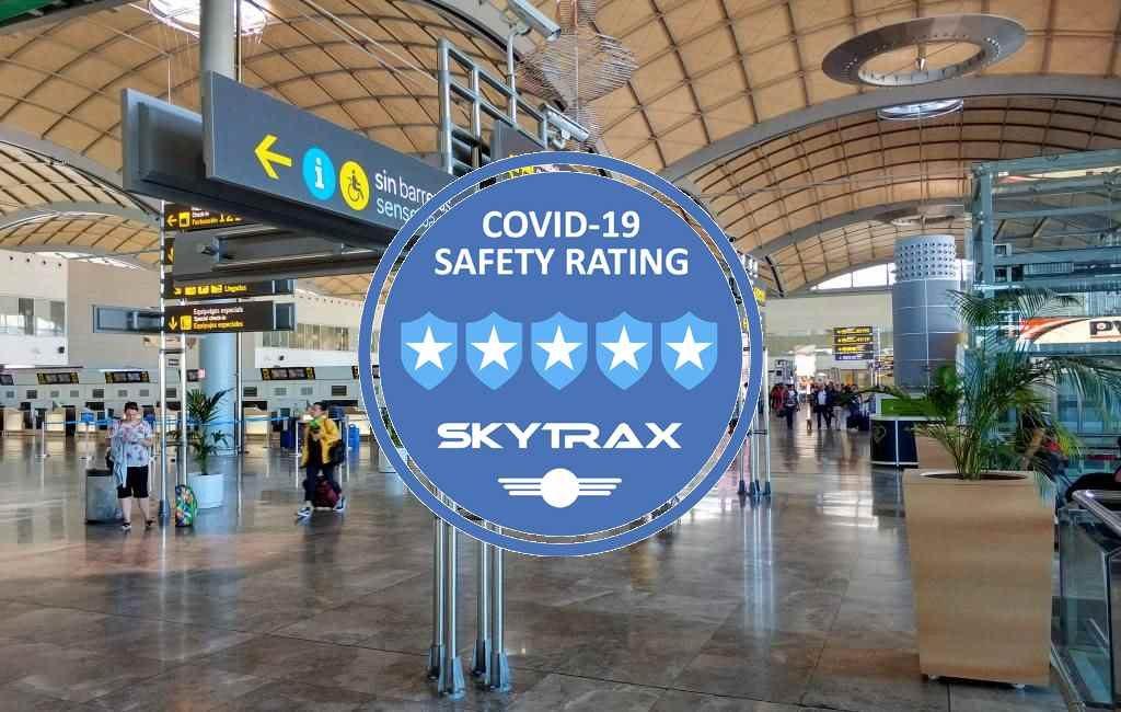 Anti-covid preventiemaatregelen en vijf sterren vliegvelden in Spanje