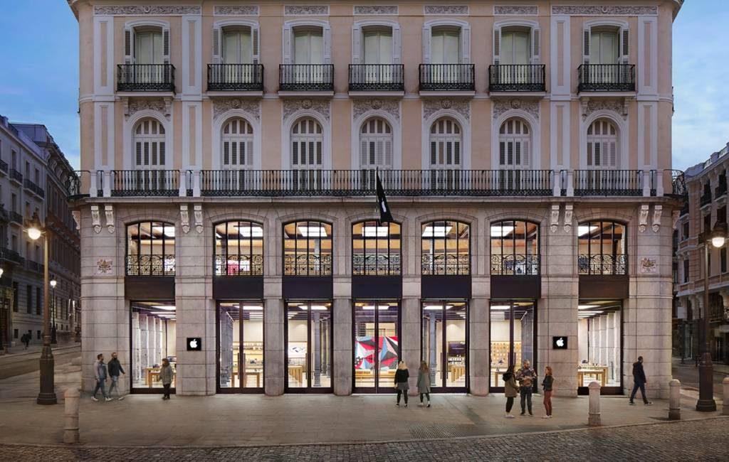 Apple sluit de Store winkels in Madrid vanwege de corona-uitbraken