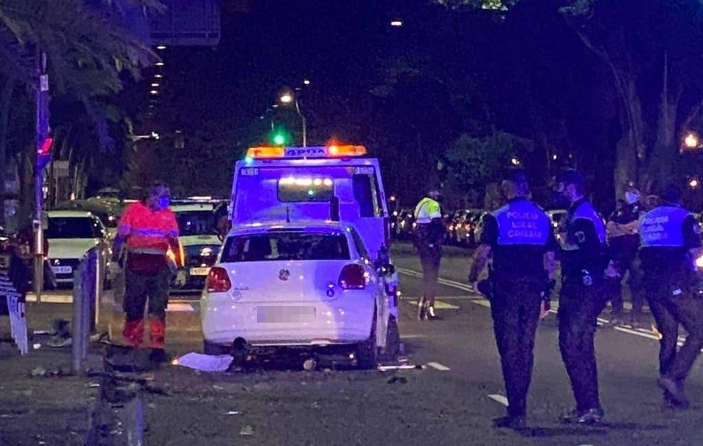Zeven gewonden nadat dronken automobilist terras oprijdt op Tenerife