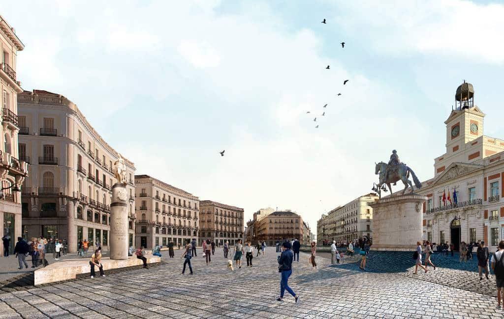 Puerta del Sol plein in Madrid gaat autovrij worden in 2021