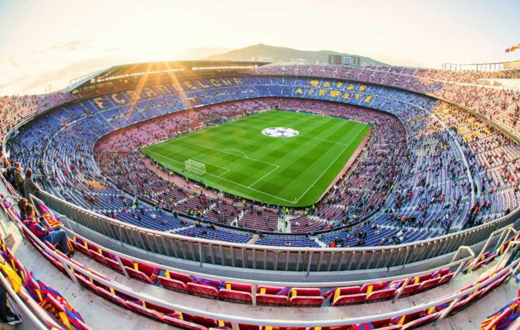 De grootste voetbalstadions van Spanje op rij