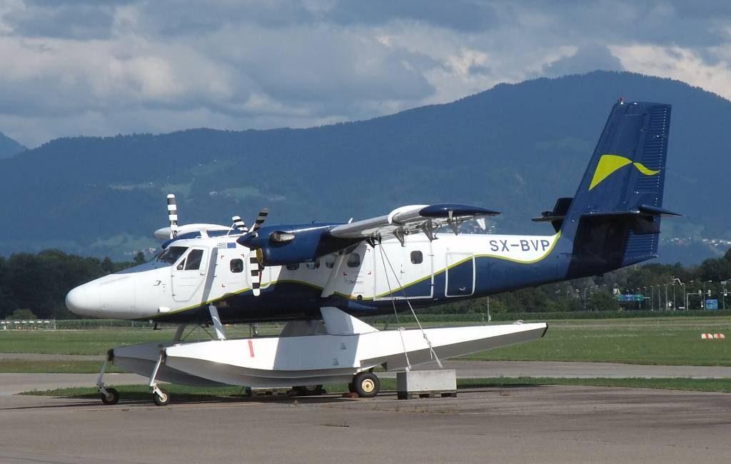 Met een watervliegtuig tussen de Balearen eilanden vliegen