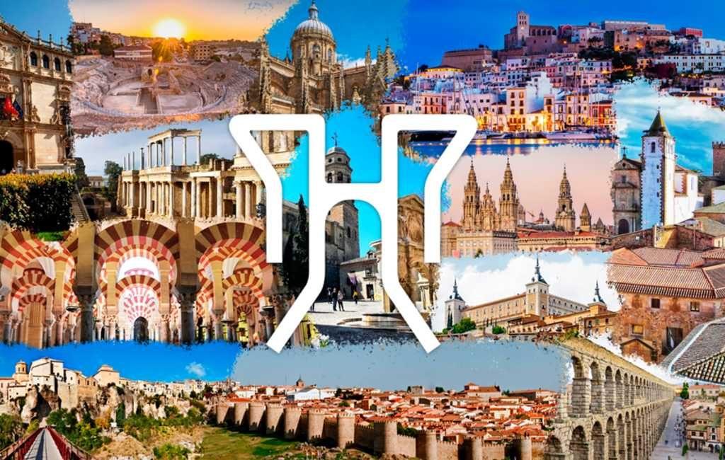 De avond van de 15 Spaanse Werelderfgoed steden