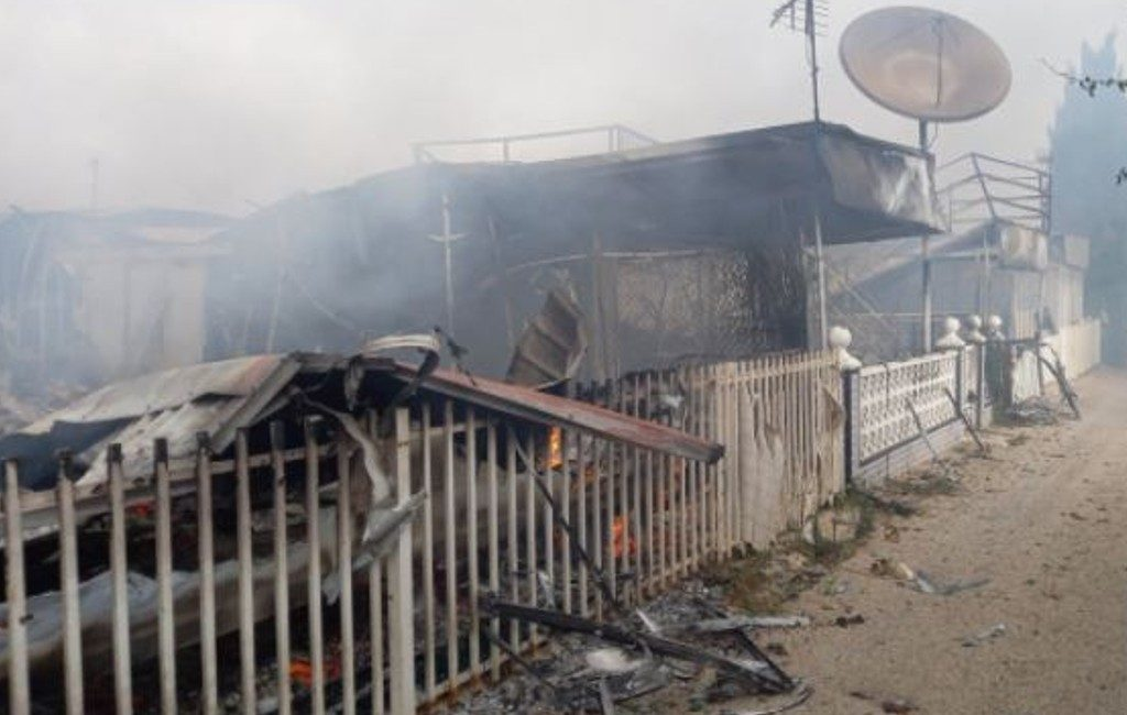 Grote brand op camping in de Mar Menor in de Murcia regio