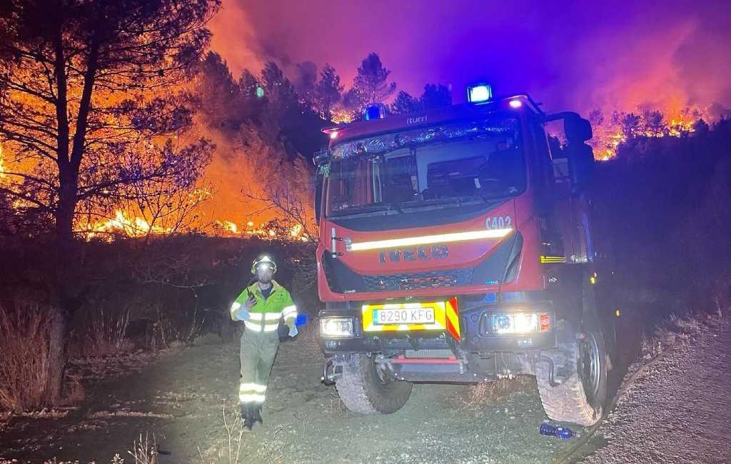 150 inwoners van Azuébar in Castellón geëvacueerd vanwege natuur- en bosbrand