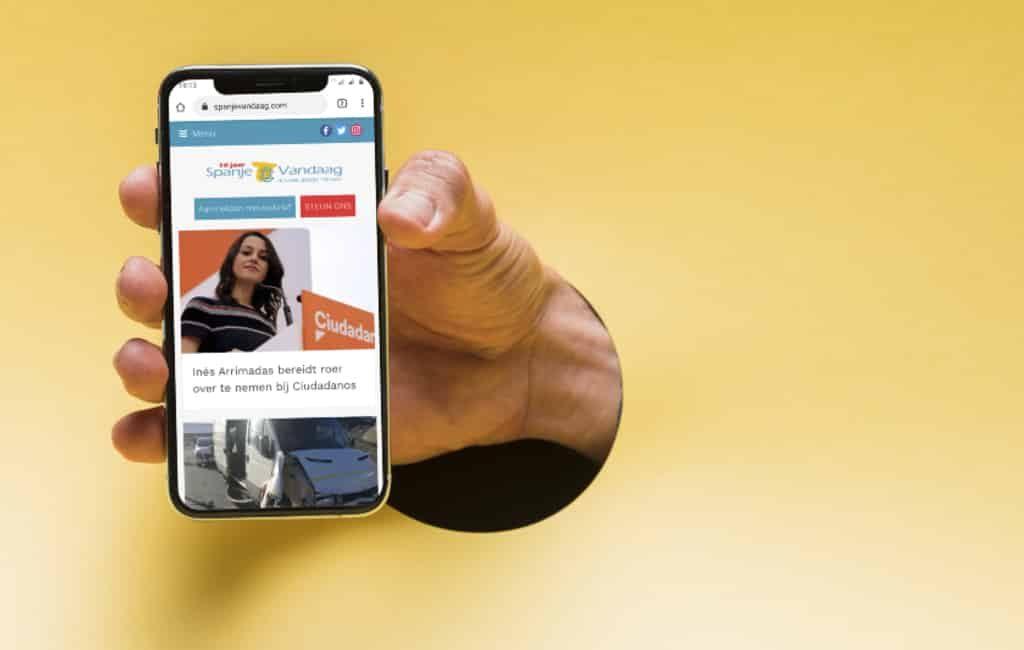 Plaats SpanjeVandaag op het beginscherm van je smartphone