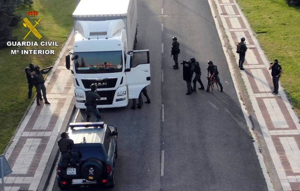 Vermoedelijke terrorist in vrachtwagen bij Pamplona gearresteerd