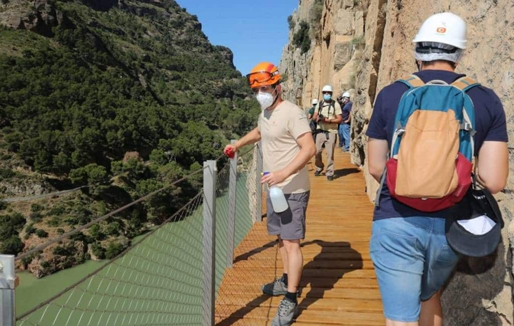 Caminito del Rey in Málaga provincie twee weken dicht