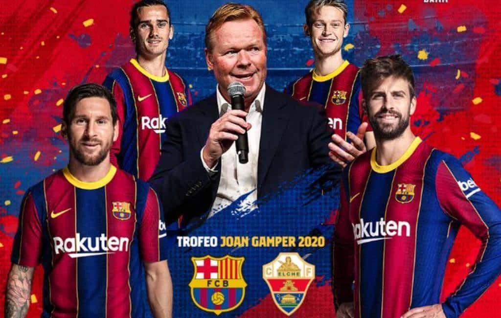 FC Barcelona speelt de Camper openingswedstrijd tegen Elche