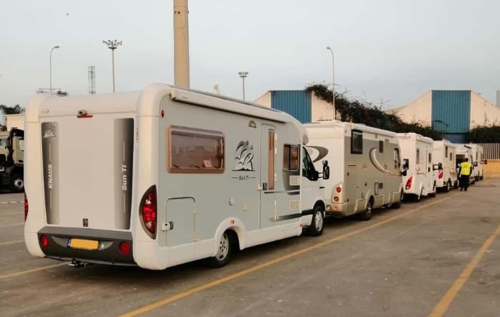 84 Nederlandse campers dankzij NKC vanuit Marokko naar Nederland gebracht