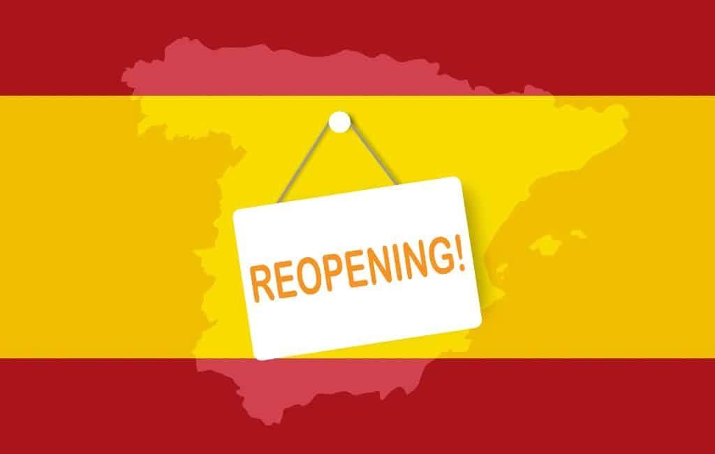 Niet alle regio's en provincies zullen naar Fase 1 gaan in Spanje