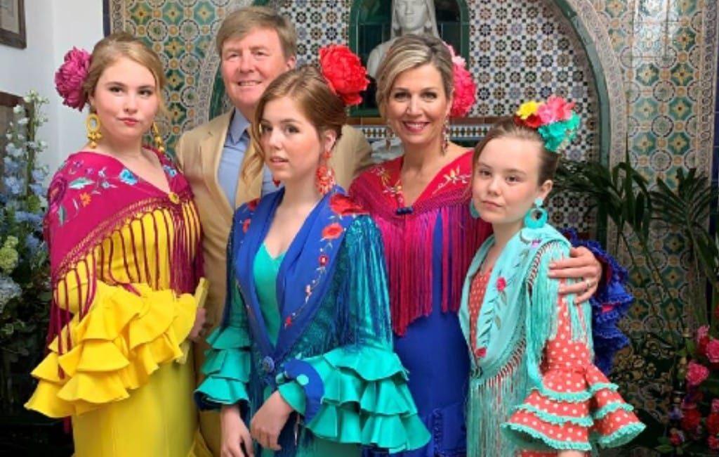 Spaanse kerstgroet van Nederlandse Koninklijke familie