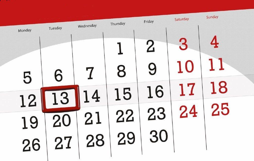 Let op: Dinsdag de 13e is een ongeluksdag in Spanje