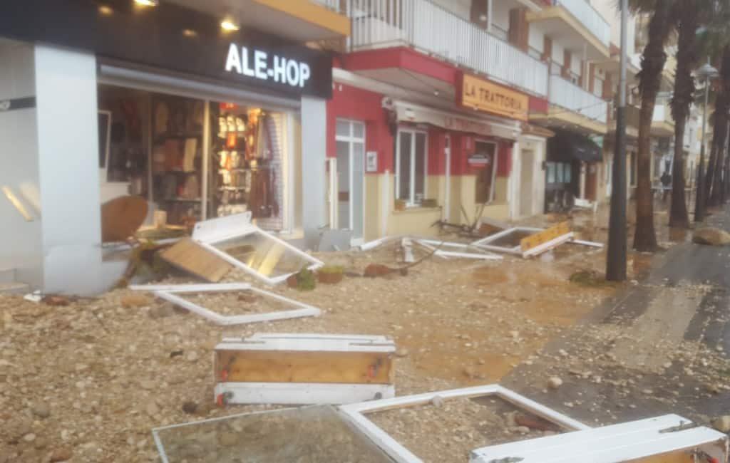 Javea en Denia aan de Costa Blanca zwaar getroffen door noodweer