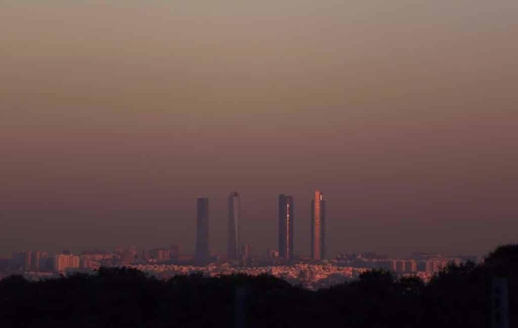 Warme weer zorgt voor luchtverontreiniging in Spanje