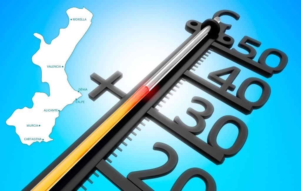 Valencia regio heeft warmste decembermaand sinds 1950
